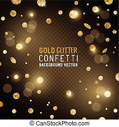 Falling Gold Confetti - A luxury background design with ...