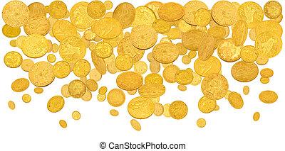 Falling gold dollars
