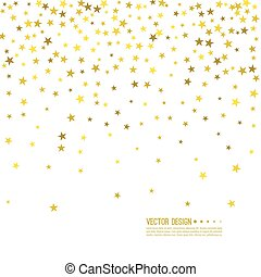 Abstract vector background with starry. - Falling gold stars...
