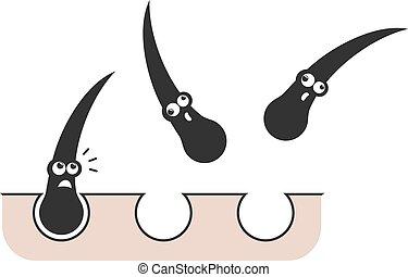 falling hair funny draw