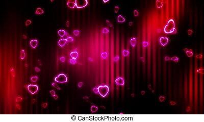 Falling Hearts Deep Reds Loop