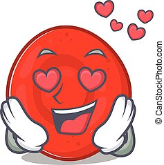 falling in love cute erythrocyte cell cartoon character ...