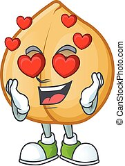 Falling in love happy cute chickpeas cartoon design