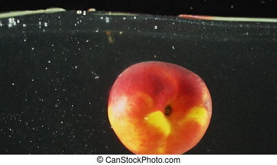 falling in water peach