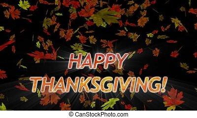 Falling Maple Leaves Thanksgiving - %u201CHappy...