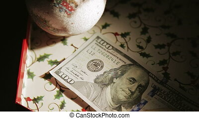 falling money close-up