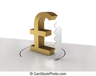 Falling of pound sterling