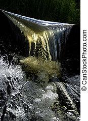 Falling of water
