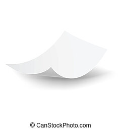 Falling paper sheet. - Blank paper sheet falling down. ...