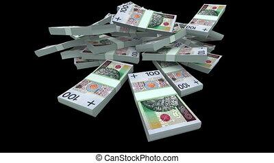 Falling PLN Packs (with Matte) - Falling 100 Polish zlotys...