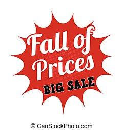 Falling prices big sale stamp