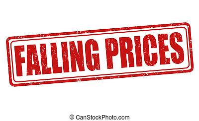 Falling prices stamp