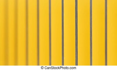 Yellow dominoes placed in cascade row, knocked down. Domino effect, chain reaction. Mechanical effect. Cumulative effect produced when one event sets off a chain of similar events. Loss of power