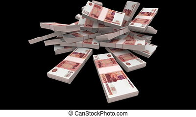 Falling Rubles Packs (with Matte) - Falling 5000 Russian...
