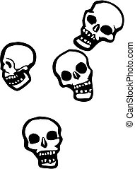 Falling skulls - Four skulls that are falling from the sky.