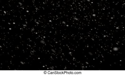 Falling Snow Animation Loop Background