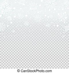 Snow on blue transparent background. Christmas and winter ...