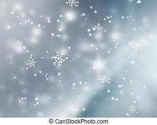 falling snow - elegant background for your art design