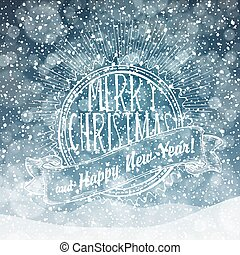 Falling Snow. Merry Christmas Background
