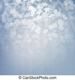 Falling snow on a blue background. Abstract white snowflake and sparkles background. EPS 10