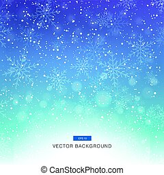 falling snow on the blue and purple background