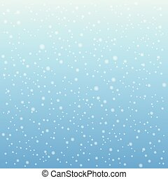 Falling snow on the blue background. Vector illustration.