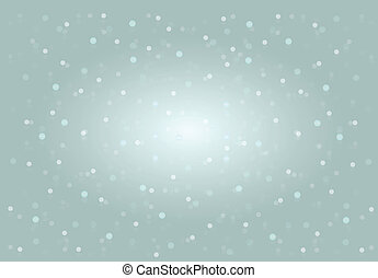 Falling snow on the blue background