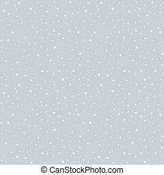 Falling snow seamless pattern.