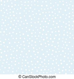Falling snow vector seamless pattern