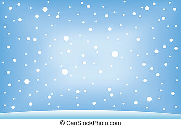 Winter background: snow fall - vector illustration.