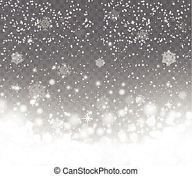 Falling snow with snowflakes on transparent background....