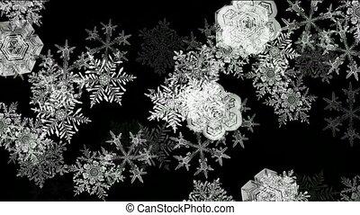 falling snowflake pattern,seamless