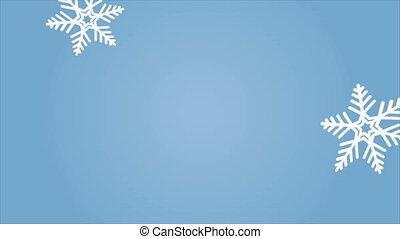 falling, snowflakes, макрос, абстрактные