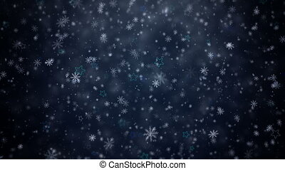 Falling snowflakes and stars