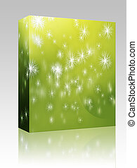 Falling snowflakes box package