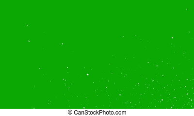 Falling Snowflakes on a Green Background. Two Options,...
