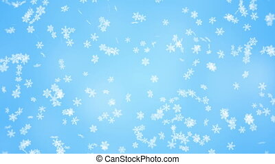 falling snowflakes seamless loop christmas background