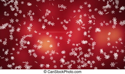 falling snowflakes seamless loop winter background