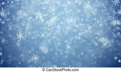 Falling snowflakes, snow background