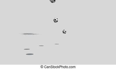 Falling soccer balls