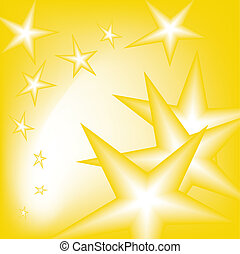 falling stars from the sky in yellow