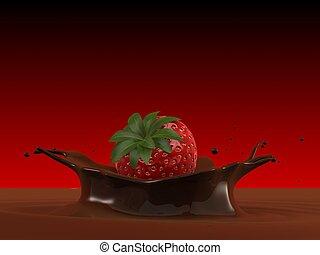 falling strawberry