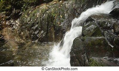 Falling white narrow brook - Falling white narrow fast brook...