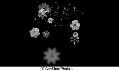 falling white snowflake