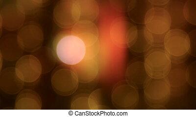 Falling yellow lights bokeh background