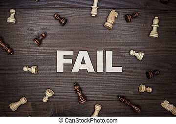 fallire, legno, concetto, fondo