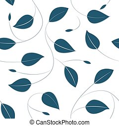 Fallling leaves in a seamless pattern