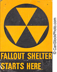 Authentic fallout shelter sign
