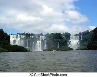 Falls between Brazil and Argentina - Iguazu falls panorama