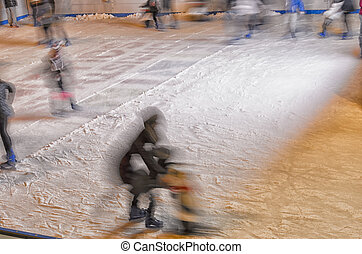 Falls on the ice rink